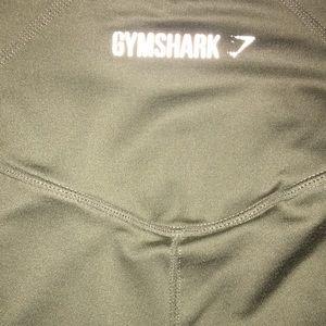 Khaki gym shark leggings